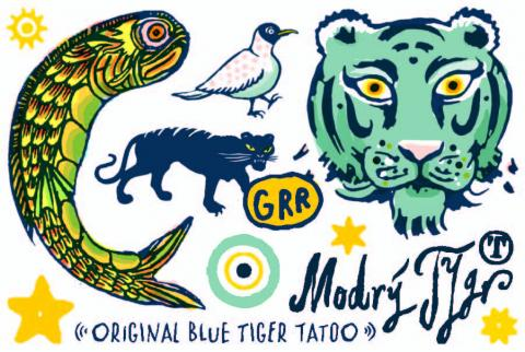 Original Tattoo Blue Tiger
